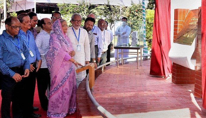 PM lays foundation stone of Bangabandhu Media Complex