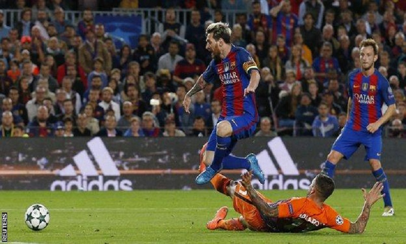4aff43eed7c Barcelona 4-0 Manchester City. Lionel Messi scored a hat-trick ...