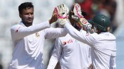 Shakib becomes first BD bowler to take 150 test wickets