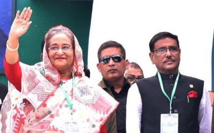 Hasina reelected AL President, Obaidul made General Secretary