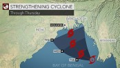 Strengthening cyclone to target Bangladesh likely on Thursday