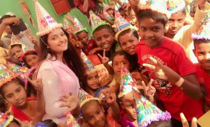 Porimoni celebrates her birthday with hapless children