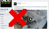 Those 'live from space' Facebook videos are fake