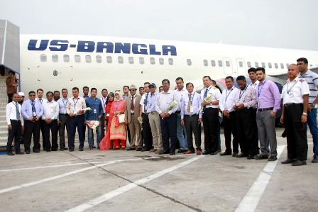 2nd Boeing 737-800 aircraft join US-Bangla Airlines fleet