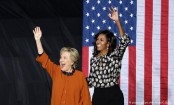 Clinton, Michelle Obama team up in final push