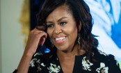 Michelle Obama Speaks at US Navy Ceremony