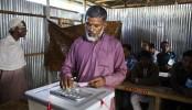 Ex-Panchayet head tastes voting in Bangladesh