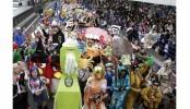 Halloween parade draws thousands in Japan
