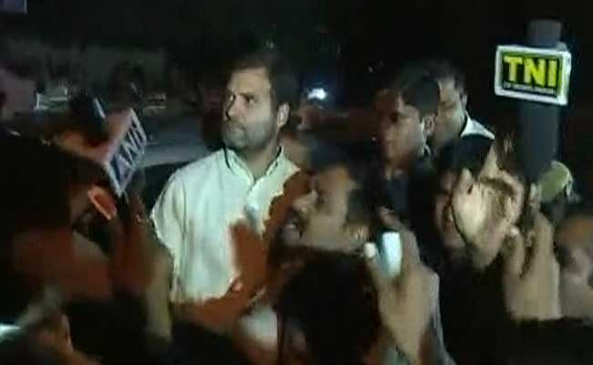 Rahul Gandhi detained again by police from orop protest site at Jantar Mantar