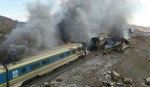 44 killed in train collision in Iran