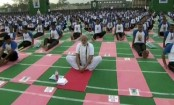 PM Modi Participates In Yoga With Top Cops In Hyderabad