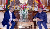 Indian defence minister spends busy day in Dhaka, meets president Hamid