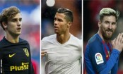 Griezmann, Messi & Ronaldo up for Fifa award