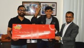 "Man wins Lakh taka under the ""Symphony Lakhpoti Offer"""