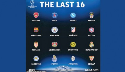 Champions League last-16 draw 2016: When is it? Who can play who?