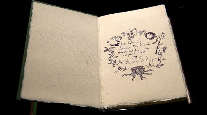 Handwritten JK Rowling fairytales sold at UK auction