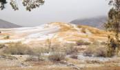 First Sahara desert snow  in 40 years