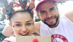 Liam Hemsworth makes rainbow moon earrings for Miley Cyrus