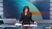 Italian newsreader accidentally flashes knickers on live TV