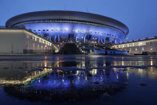 Much-delayed Russian soccer stadium officially completed