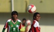 Bangladesh dominates first half 2-0 against the Maldives