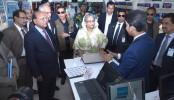 PM visits Walton Pavilion at Dhaka Int'l Trade Fair-2017