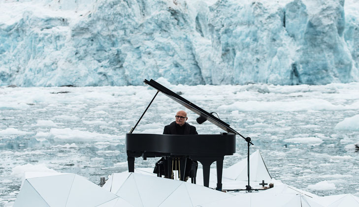 Watch: As glaciers crumble around him, a pianist plays an elegy for the Arctic