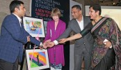 Art exhibition 'Brush of Hope' opened at Le Méridien Dhaka