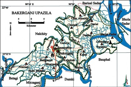 Barisal district all thana