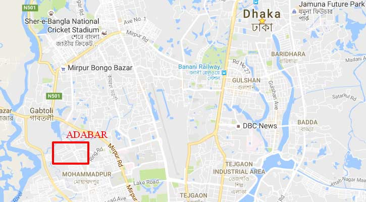Girl rescued from window cornice of high rise building in Adabar