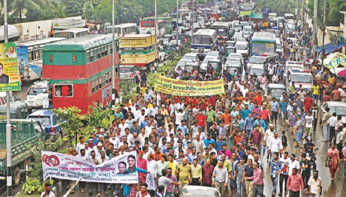 City commuters suffer gridlock for Awami League rally