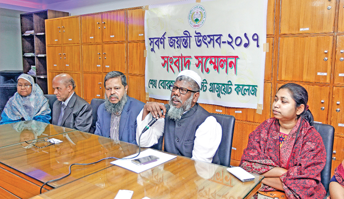 Press conference on the institution's golden jubilee celebration