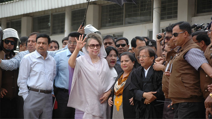 Khaleda Zia appears before court in Zia Charitable Trust, Orphanage graft cases
