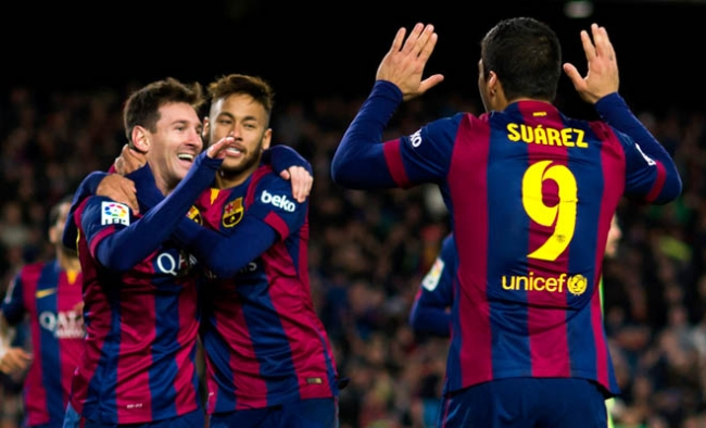 Messi, Suarez and Neymar find form as Barcelona return to winning ways