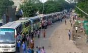 10-km long gridlock on Dhaka-Tangail highway
