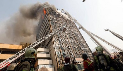 50 firefighters killed in Iran as burning high-rise collapses