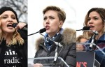 ScarJo, Madonna, other stars join women's marches against Trump