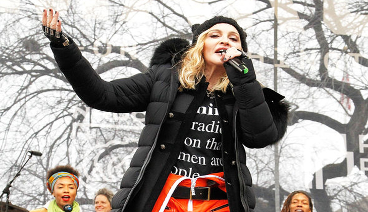 Madonna defends 'blowing up White House' comments about