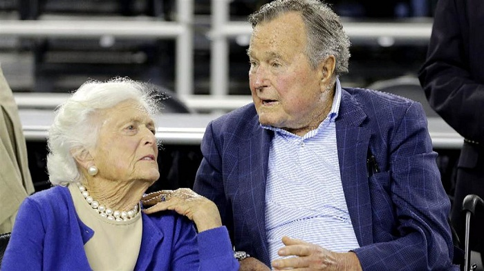 Bush senior out of intensive care, wife Barbara released