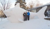 Snow sculptures to raise money for clean water