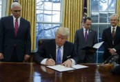 US President Trump signs order to withdraw from Trans-Pacific Partnership