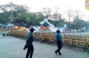 Police foil hartal supporters' demo at Dhaka's Shahbagh, 5 hurt