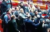 Pakistani lawmakers brawl in parliament (Video)