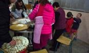 Chinese Lunar New Year feast begins