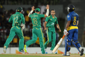 South Africa crush Sri Lanka by 121 runs to take a 2-0 five-match series lead