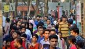 Visitors throng Ekushey book fair