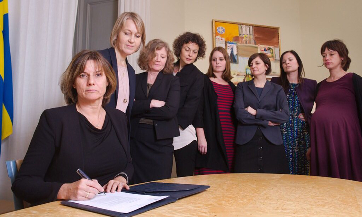 Is the Swedish deputy PM trolling Trump with this all-female photo?
