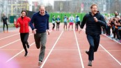 Prince Harry beats William and Kate in charity race (Video)