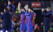 Messi, Suarez finish off Atletico, Barca reaches Copa final