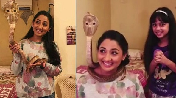 Indian actress Shruti Ulfat arrested for posting video with cobra (Video)